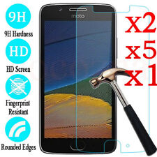 5Pcs 9H Tempered Glass Screen Protector Film For Motorola Moto G6 Plus G4 G5 E5
