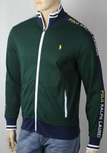 Polo Ralph Lauren Cotton Green Full Zip Sweatshirt Track Jacket NWT $125