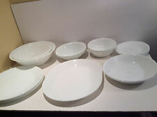 Corelle Winter White Frost Dishes 20 Pieces 4 Dinner Plates 1 Meat Platter