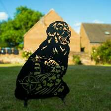 More details for newfoundland laser garden patio sculpture outdoor loss memorial gift dog lover