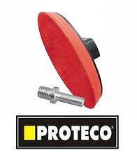 Proteco RUBBER PAD supporto 125mm Hook & Loop per Smerigliatrice angolare Levigatrice DISCHI M14