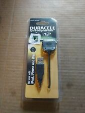 Duracell Black Sync and Charge Cable iPod IPhone iPad