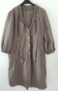 Transit Par Such 100% Leinen Kleid Bluse Longshirt Blusenkleid Gr 44