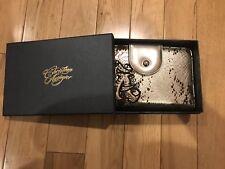 Christian Audigier Travel Wallet Clutch, Gold, New, Style: Zara