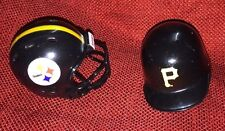 Lot of 2 Riddell pocket pro helmets Pittsburgh Steelers revolution and Pirates