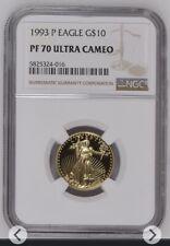 1993 Gold Eagle $10 NGC PF 70 Ultra Cameo Quarter-Ounce 1/4 oz Fine Gold PF70