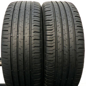 2 CONTINENTAL 195/55 R16 87H 6,3mm Eco Contact 5 Sommerreifen DOT14