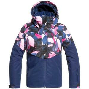 Roxy Girls Frozen Flower Girl Jacket, Ski Winter Jacket, Size XXL (16 Girls)