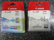 4 d'origine Canon Cartouches d'encre cli-521 Multi-Pack Y/C/M/BK facture avec TVA