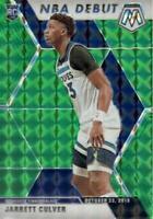 2019-20 Panini Mosaic NBA Debut Green Prizm Jarrett Culver #263 Rookie