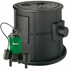 "Myers CMV-BP - 1/2 HP Cast Iron Sewage Pump System (2"") w/ Tether Float Switch"