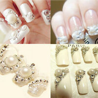 1440pcs 3D Tips Crystal Nail Art Rhinestones Glitter Diamond Gems DIY Decoration