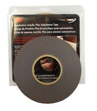 """3M 06386 Automotive Acrylic Plus Attachment Tape Black 1/4""""x20 Yds--45 mil"""