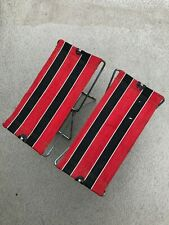 Vintage Pair of Portable Canvas Folding Seat Stool Chair Camping Hunting Fishing