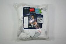 008X02 Hanes 84L10 Cushion Crew Socks (10-Pack) OSFM White (NWD)