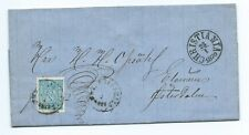 NORWAY: Cover 4SKILL4 Christiania to Elverum 1870. Contents.