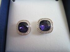 Cristal de Swarovski simplicidad Pendientes Perforado púrpura 1144263 Nuevo Y En Caja Original