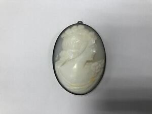 Deutschland Gemme Silber geprägt ohne Stempel, Brosche, 13,64g, 5 cm groß
