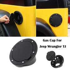 Black Fuel Filler Door Tank Lid Gas Cap Cover For Jeep Wrangler TJ 1997-2006 1X