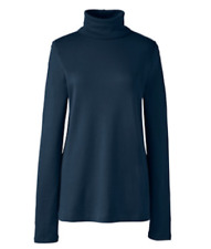 56c459b0d1 Lands End Plus Shaped Supima Long Sleeve Roll Neck Navy Size Uk24/26 Dh181  QQ