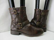 Treasure & Bond Brown Leather Buckle Strap Engineer Biker Boots Womens Size 7.5