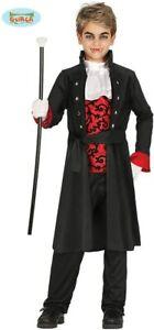 Guirca Costume Carnevale Conte Dracula Bambino 3-4 anni Vestito da Vampiro