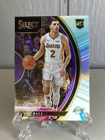 LONZO BALL 2017 PANINI SELECT ROOKIE SILVER PRIZM RC CARD!