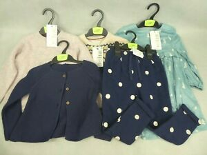 Job Lot 5 x Marks & Spencer Kids Clothing Girl's Size: 2-3 Years New With Tags