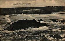 CPA   Belle-Isle-en-Mer - Sauzon - Port Donnant par gros temps     (431559)