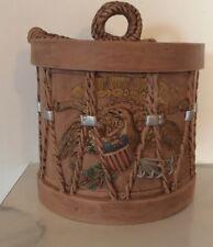 Vintage American Drum Cookie Jar Unknown Maker Neat Retro