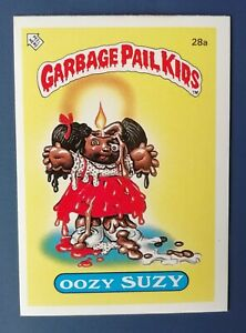 Oozy Suzy 28a UK Garbage Pail Kids Series 1(1985)Topps~NMT/MINT~Pack Fresh