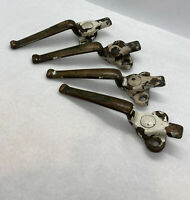 "Antique Large Dark Bronze Shutter Window Latches Lot Of 4 / No Strikes 5.5"" OA"
