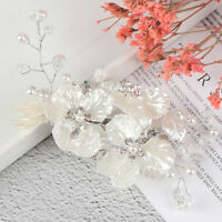 Bridal Crystal Pearl Flower Hair Clip Hair Accessories Wedding Hair Accessori_ne