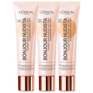 L'OREAL Bonjour Nudista Awakening Skin Tint Foundation - Choose Shade - NEW
