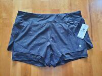New APANA Women's Large Black Inner Brief/Shorts Hidden Pocket Running Shorts