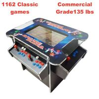 Amazing Cocktail Arcade Machine With 1162 Classic Games 165LBS commercial grade