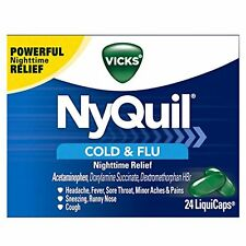 Vicks NyQuil Cold & Flu Nighttime Relief LiquiCaps 24 Each