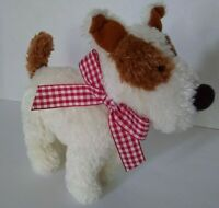 """Ollie Terrier Squeaker Dog Toy Soft Plush NABCo North American Bear 7"""" 2004 2343"""