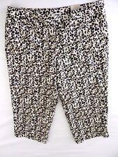 Laura Ashley Size 20W Capri Cropped Animal/Leopard Print Woman Plus Size Pants