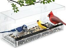 Wild Birds of Joy Window Bird Feeder with 4 Super Strong Suction Cups Sliding