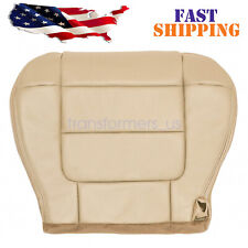 For 2001 2003 Ford F150 Lariat Super Crew Driver Bottom Leather Seat Cover Tan