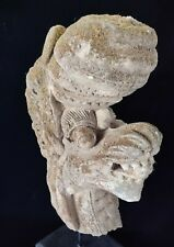 Dragon head Naga Statue Sand Stone carving mystical snakeBalinese display Stand