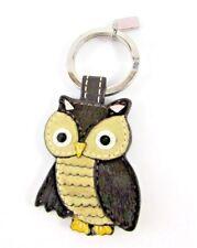 COACH Owl Keychain Key Fob Leather Keyring 92527
