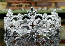 Flower Girl / Baby Crystal Rhinestone Full Circle Round Mini Tiara Crown