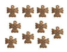 Lot of 10 Tan Totem Spirit Bird Tribal Resin Craft Necklace Jewelry Pendants