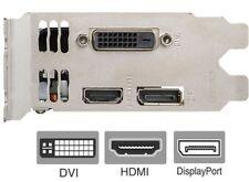 GTX 1050 Low Profile Bracket for Video Graphics Card DVI HDMI DisplayPort