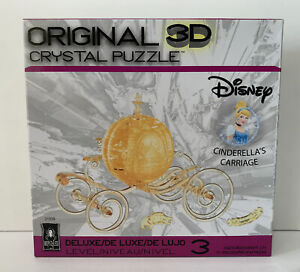 New - BePuzzled 3D Crystal Puzzle - Disney Cinderella's Carriage (Gold): 71 Pcs
