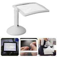 3X LED Magnifier Desktop Reading Lamp Glass Lens Light Magnifying Jewelry Loupe