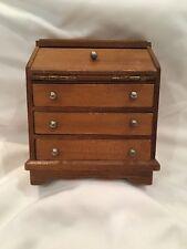 Dollhouse Miniature Drop Down Desk Wooden Drawers