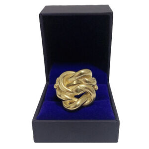 Men's Gents Heavy Gold Knot Ring18 Carat Gold Filled on Precious Metal